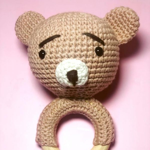 Bear Rattle Teether
